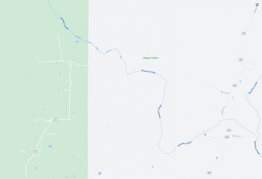 Brewer's Creek Map